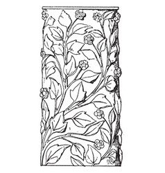 roman decorated shaft marble vintage engraving vector image vector image