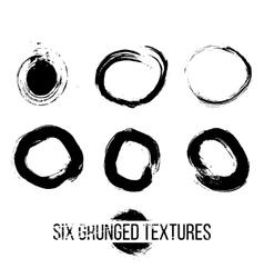 Set of Grunged Circles vector image vector image