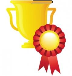 sport award trophy vector image vector image