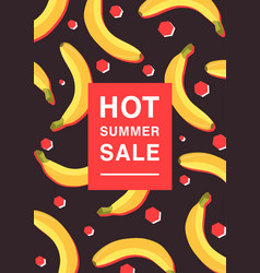 vertical poster on hot summer sale theme bright vector image vector image
