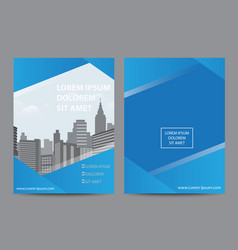 brochure flyer magazine cover vector image vector image