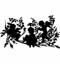 cherubs vector image vector image