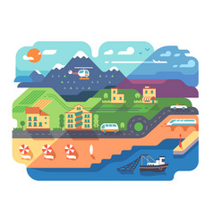 coastal resort town vector image