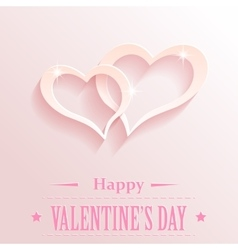Design with hearts for valentine s day vector image vector image