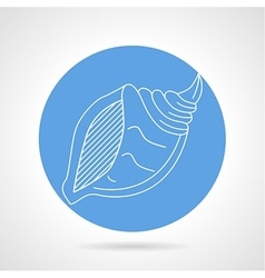 Seashell blue icon vector image
