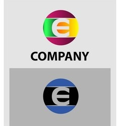 Set of letter E logo icons design template element vector image vector image