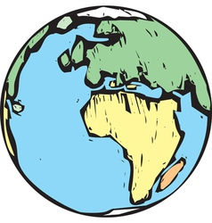 Woodcut Earth East vector image vector image