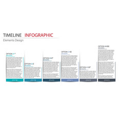 abstract element timeline infographics design for vector image