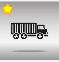 black truck lorry icon button logo symbol concept vector image vector image