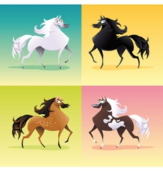 Family of horses vector image vector image