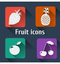 Kitchen icons Flat set long shadows vector image vector image