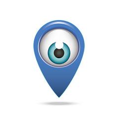 map pointer icon eye vector image
