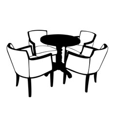 table with chairs vector image