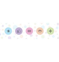 5 blast icons vector
