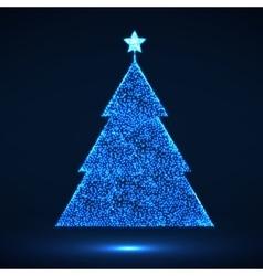Abstract Christmas tree Eps vector