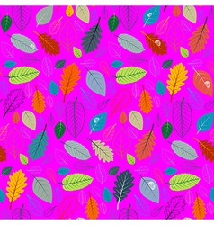 Abstract Pink Retro Seamless Pattern - Autumn vector image