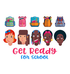 back to school childrens vector image