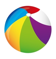 Beach ball icon image vector
