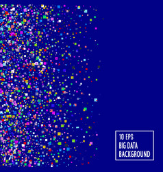 big data abstract blue technology background vector image