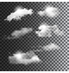 Big set of transparent clouds vector image