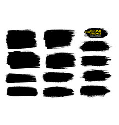 Black ink brush strokes thin dirty vector