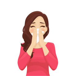 Blowing nose vector