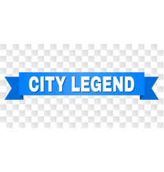 Blue tape with city legend caption vector