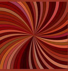 brown abstract psychedelic striped spiral vector image