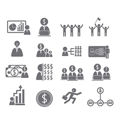 Business icons management and human vector