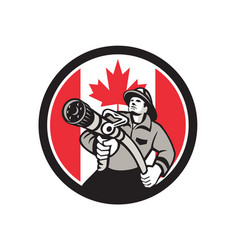 canadian fireman canada flag icon vector image
