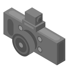 Car dvr camera icon isometric style vector