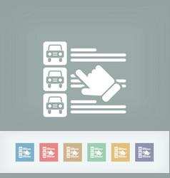 car list selection vector image