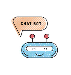 chatbot outline icon vector image