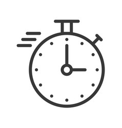 Chronometer or speed icon with stop watch pixel vector