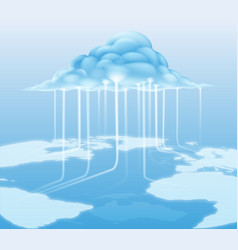 Cloud computer internet concept vector
