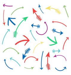 colored arrows set set icons vector image