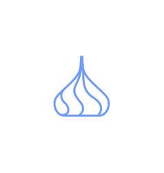 colorful cream drop for cake logo icon vector image