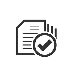 compliance document icon in flat style approved vector image