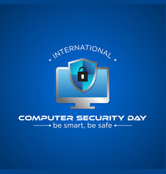 computer security day vector image