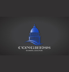congress capitol icon deisgn vector image