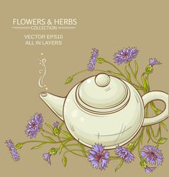 Corn flower tea background vector