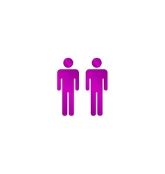 couple icon Flat design style vector image