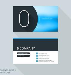 Creative business card template number zero flat vector