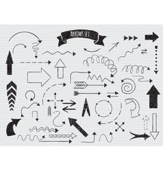 Doodle set arrows vector