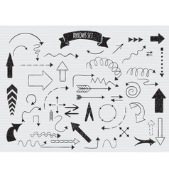 Doodle set of arrows vector