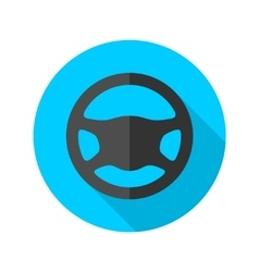 Driving wheel simple flat round icon vector