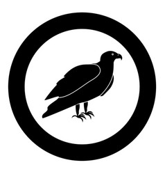 Eagle black icon in circle vector