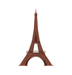 eiffel tower as famous city landmark and travel vector image
