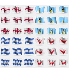 England Saint Lucia Nicaragua Easter Rapa Nui Set vector