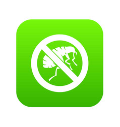 etching insect icon digital green vector image